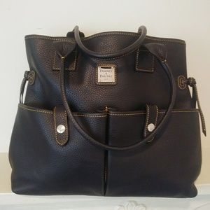Dooney & Bourke black Pebble leather handbag